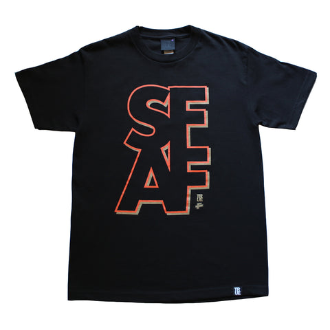Mens True x The Fword S.F.A.F T-Shirt Black