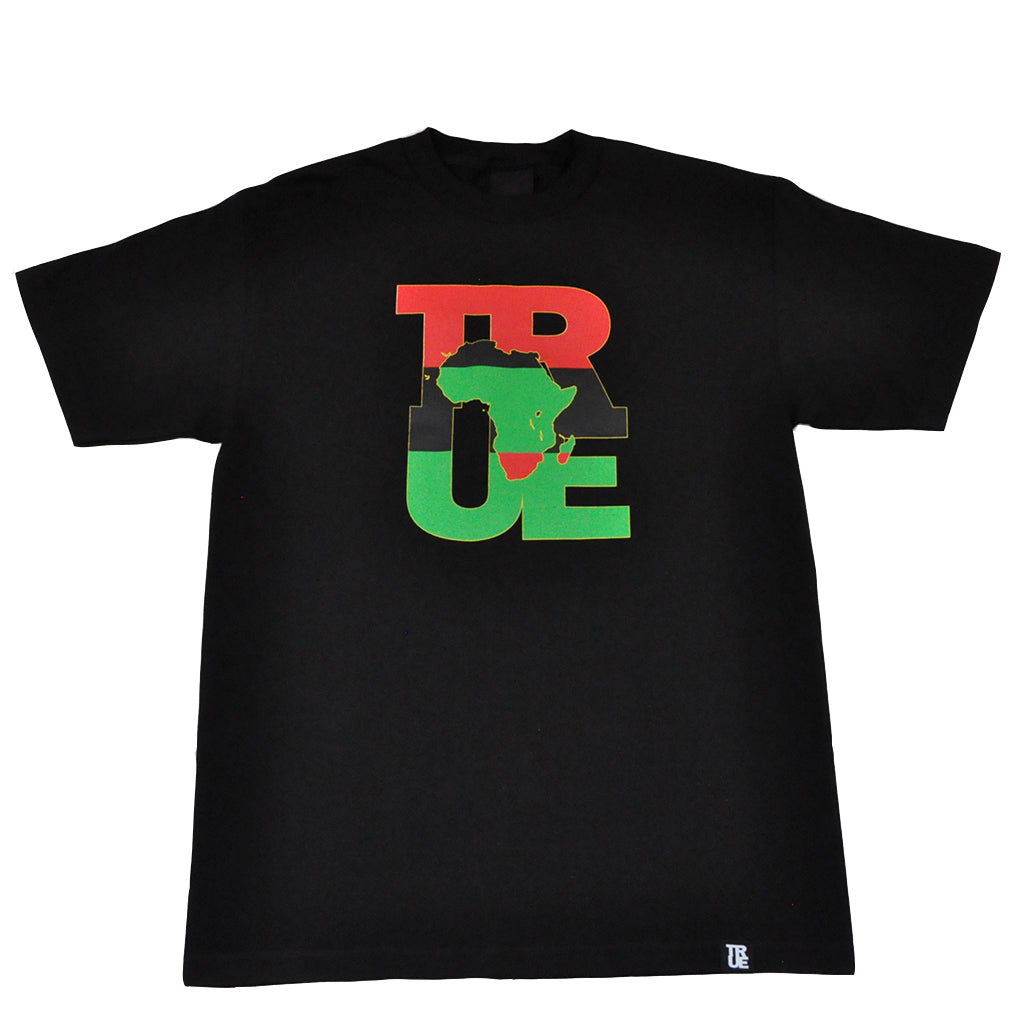 Mens True Logo Africa T-Shirt Black - Shop True Clothing