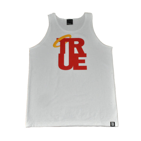 Mens True Angel Tank Top White