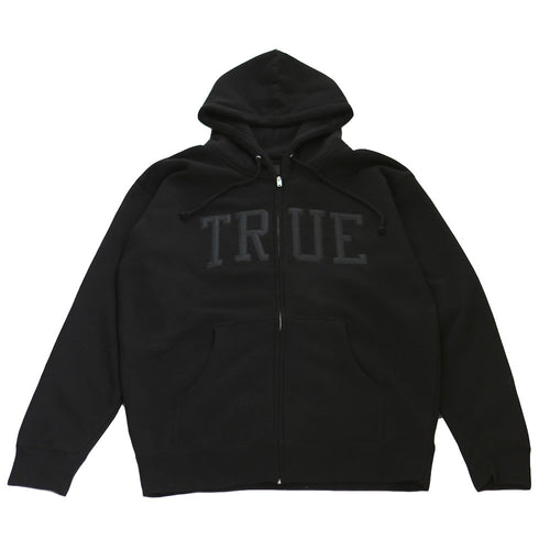 Mens True Arched Zip Hoodie Black - Shop True Clothing