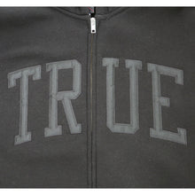 Load image into Gallery viewer, Mens True Arched Zip Hoodie Black - Shop True Clothing
