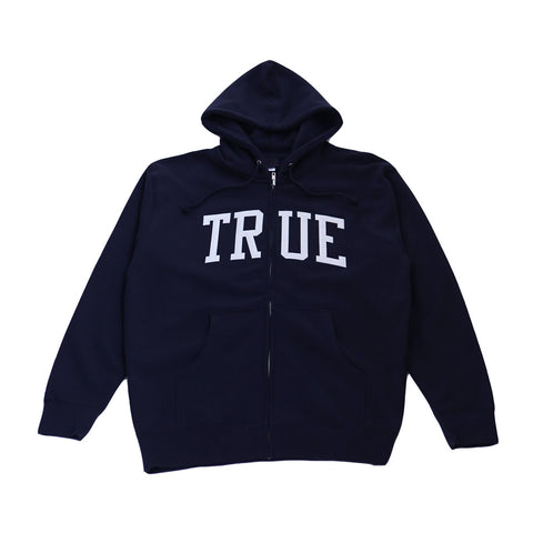 Mens True Arched Zip Hoodie Navy