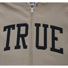 Load image into Gallery viewer, Mens True Arched Zip Hoodie Tan - Shop True Clothing