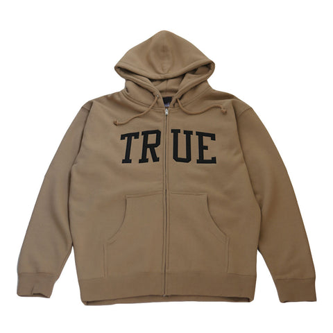 Mens True Arched Zip Hoodie Tan