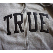 Load image into Gallery viewer, Mens True Arched Zip Hoodie Grey/Black