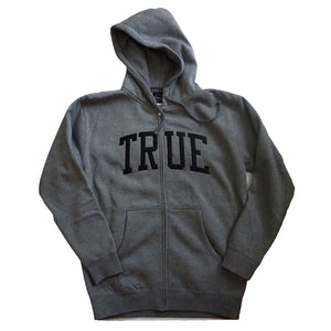 Mens True Arched Zip Hoodie Grey/Black
