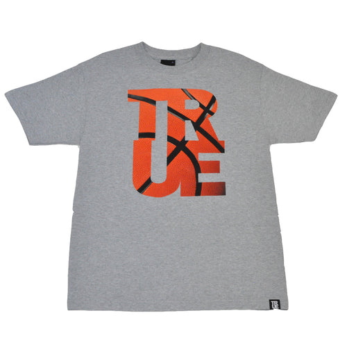 True Mens Basketball T-Shirt Heather Grey - Shop True Clothing