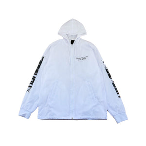 True Mens BBQ Hooded Coaches Jacket White - Shop True Clothing