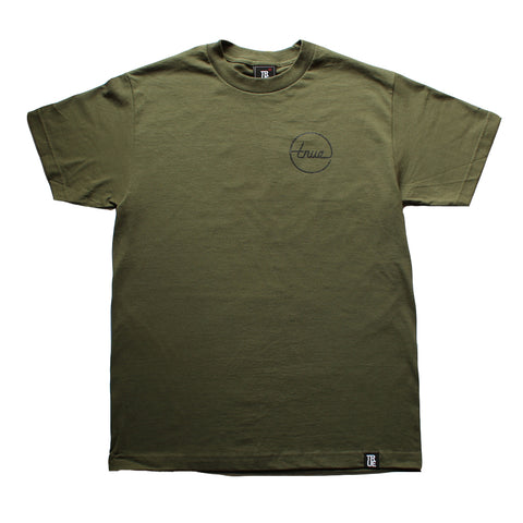 Mens True Circle Darkside T-Shirt Olive