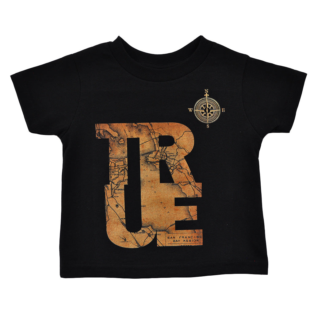 Kids True Compass T-Shirt Black - Shop True Clothing