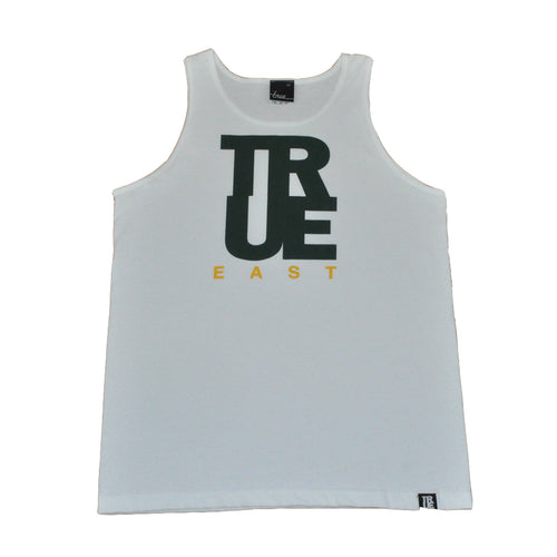 True Mens East Logo Tank Top White - Shop True Clothing