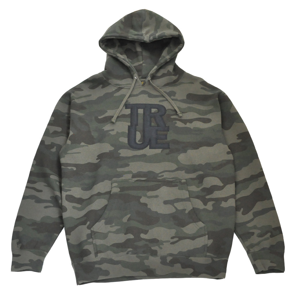Mens True Logo Hoodie Camo - Shop True Clothing
