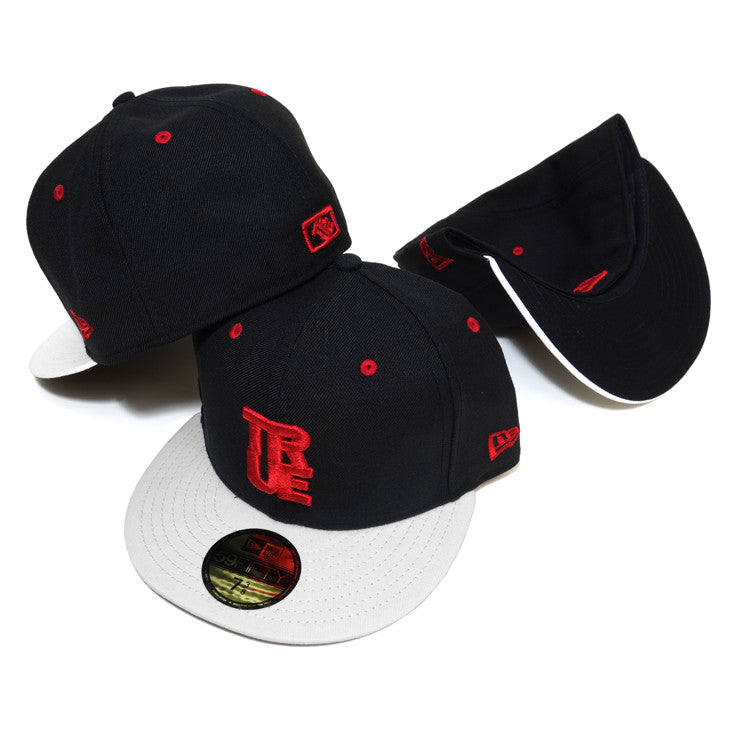 True Logo New Era Fitted Cap AJ Red - Shop True Clothing