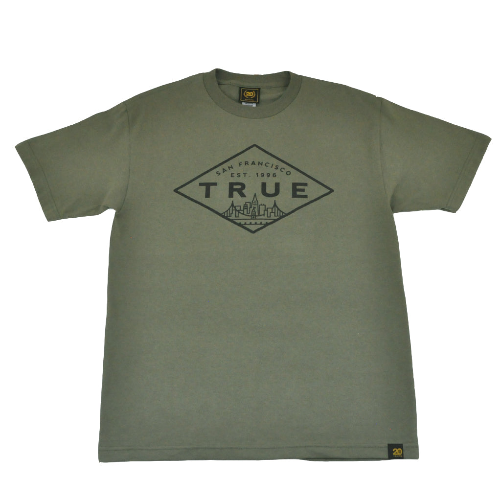 True Mens Established Basic T-Shirt Olive - Shop True Clothing