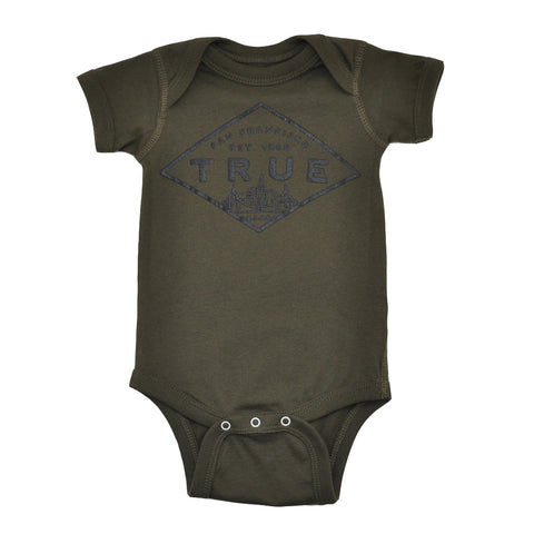 Kids True Established One Piece Olive