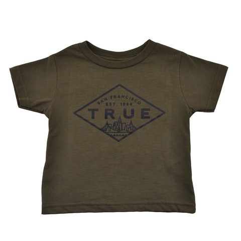 Kids True Established T-Shirt Olive