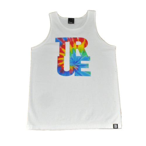 True Mens Hippie Dip Tank Top White - Shop True Clothing