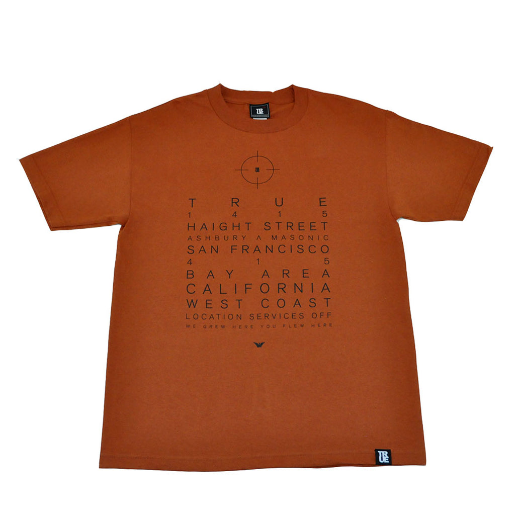 Mens Location Services T-Shirt Texas Orange - Shop True Clothing