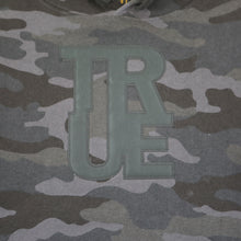 Load image into Gallery viewer, True Womens Logo Crop Hoodie Black Camo
