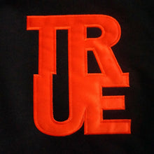 Load image into Gallery viewer, True Womens Logo Crop Hoodie Black/Orange