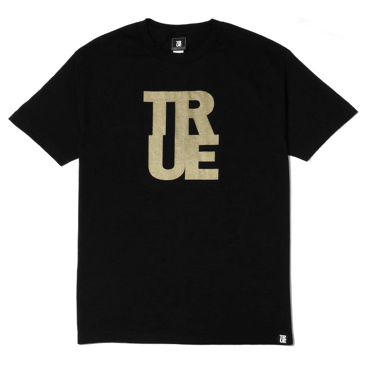 Mens True Logo T-Shirt Black/Gold