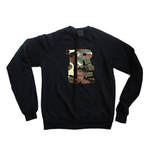 Load image into Gallery viewer, Womens True Logo Camo Crewneck Sweatshirt Black