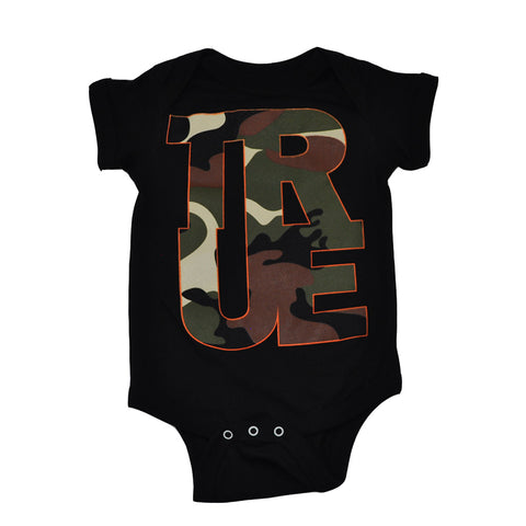 Kids True Logo Camo One Piece Black