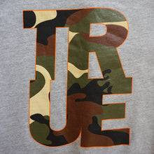 Load image into Gallery viewer, Womens True Logo Camo Crewneck Sweatshirt Heather Grey
