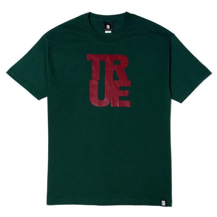 Mens True Logo T-Shirt Green/Red - Shop True Clothing