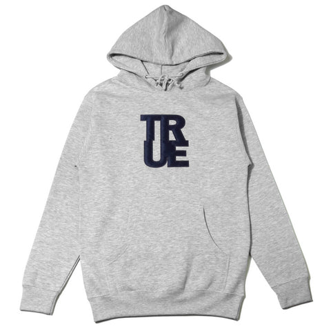 Mens True Logo Hoodie Heather Grey/Navy