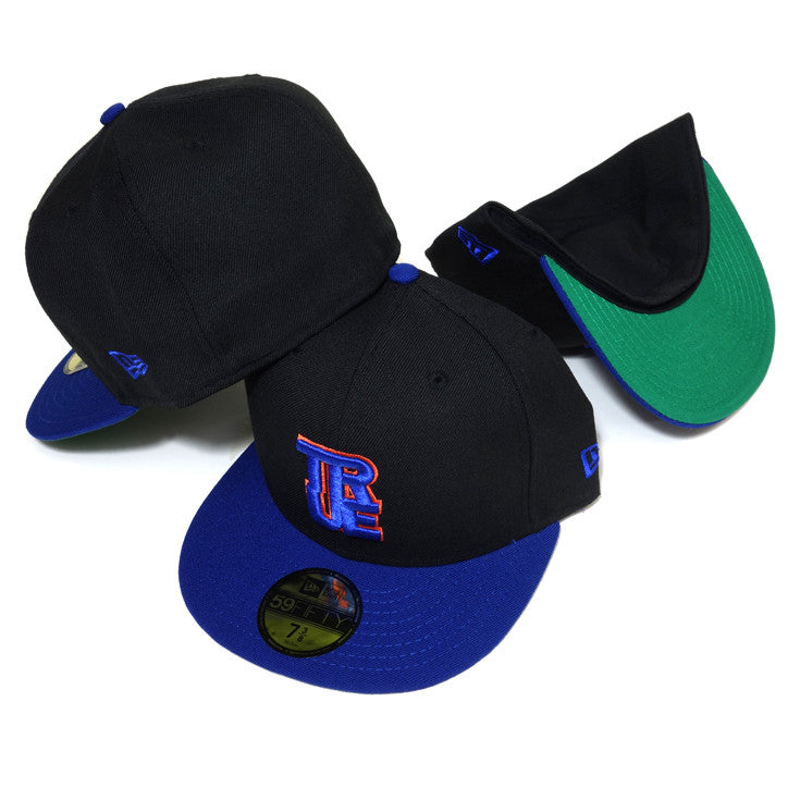 True Logo New Era Fitted Cap Black/Royal/Orange