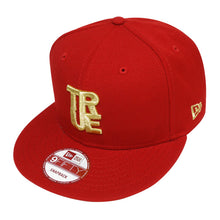 Load image into Gallery viewer, True Logo New Era Snapback Cap Red/Gold - Shop True Clothing