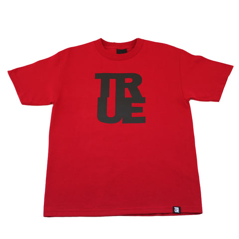 Mens True Logo T-Shirt Red/Black