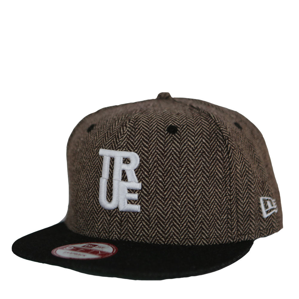 True Herringbone Snapback Cap Brown - Shop True Clothing