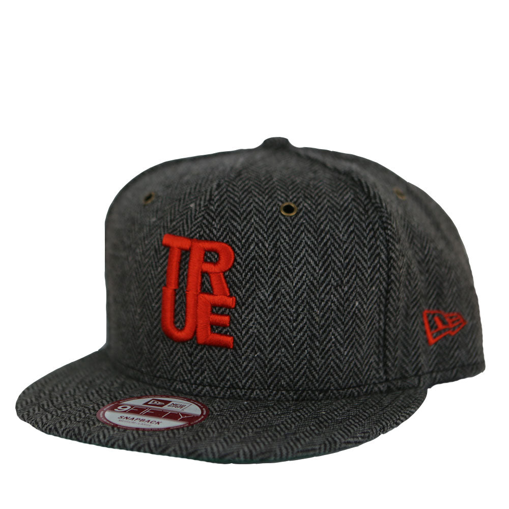 True Herringbone Snapback Cap Charcoal - Shop True Clothing