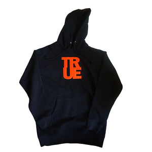 Mens True Logo Hoodie Black/Orange