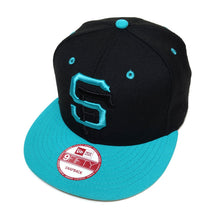 Load image into Gallery viewer, Mister SF x True SFG New Era Snapback Cap Sharks - Shop True Clothing