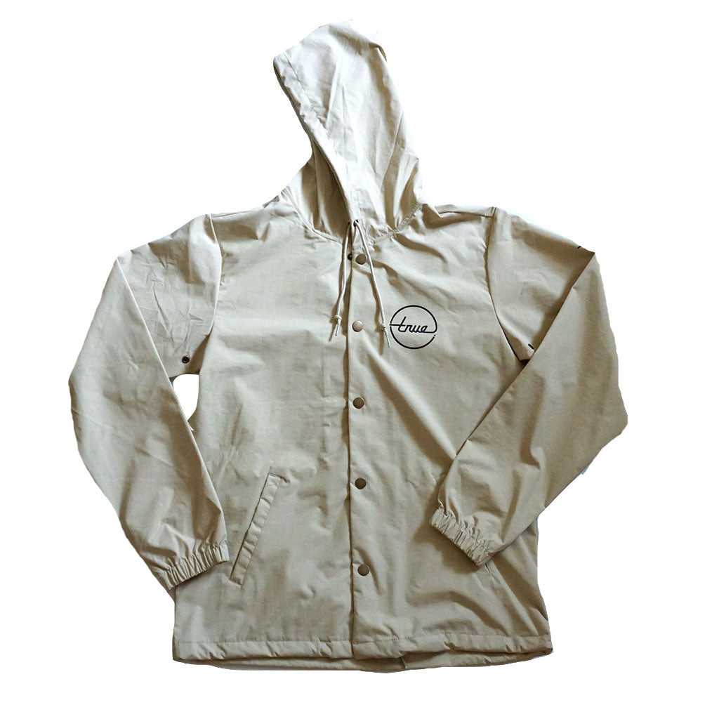 True Mens Nations 2 Hooded Rain Jacket Tan