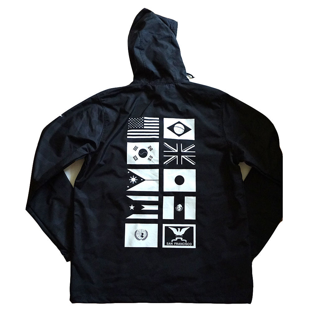 True Mens Nations 2 Anorak Black Camo