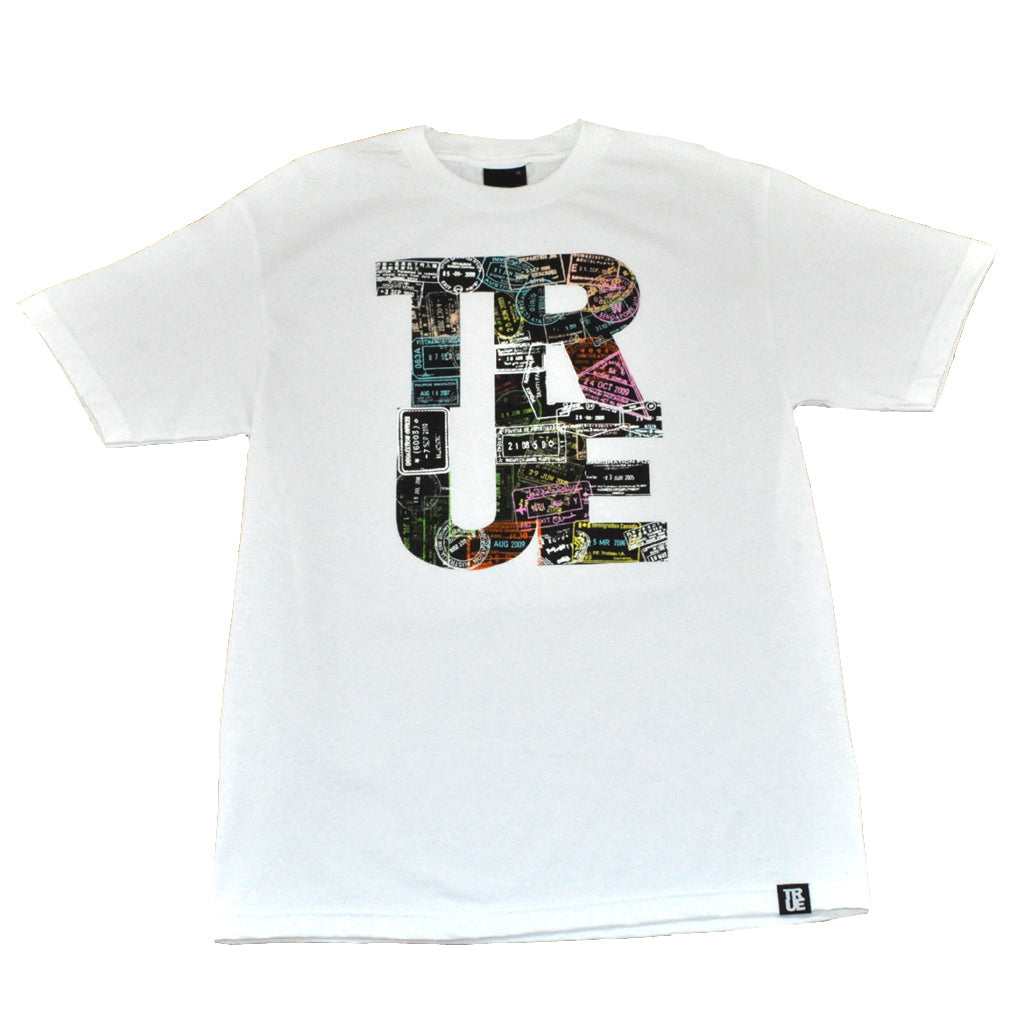 True Mens Passport T-Shirt White - Shop True Clothing