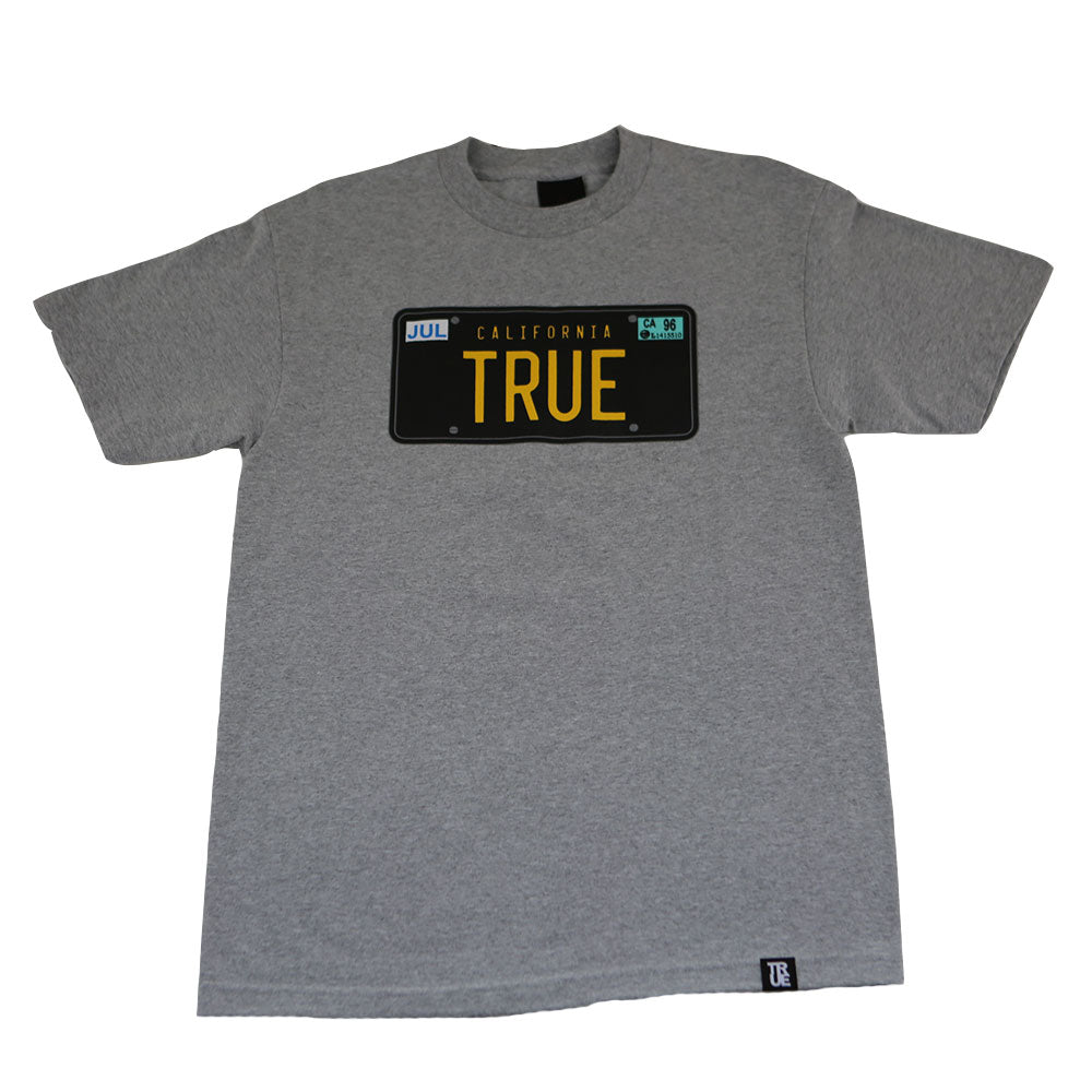 Mens True Plates T-Shirt Heather Grey - Shop True Clothing