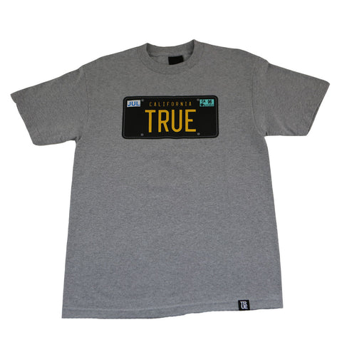 Mens True Plates T-Shirt Heather Grey