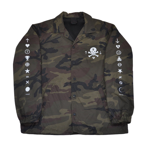 True Mens Pleasure Pain Coaches Jacket Camo