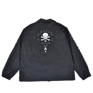 True Mens Pleasure Pain Coaches Jacket Black - Shop True Clothing