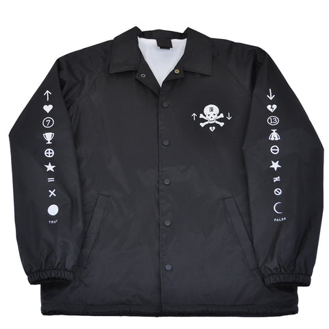 True Mens Pleasure Pain Coaches Jacket Black