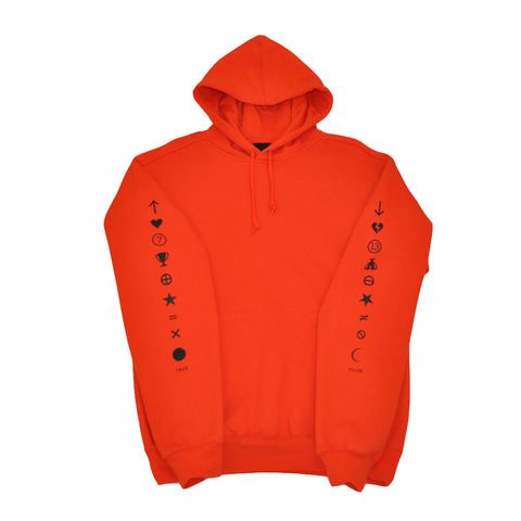 Mens True Pleasure Pain Hoodie Orange