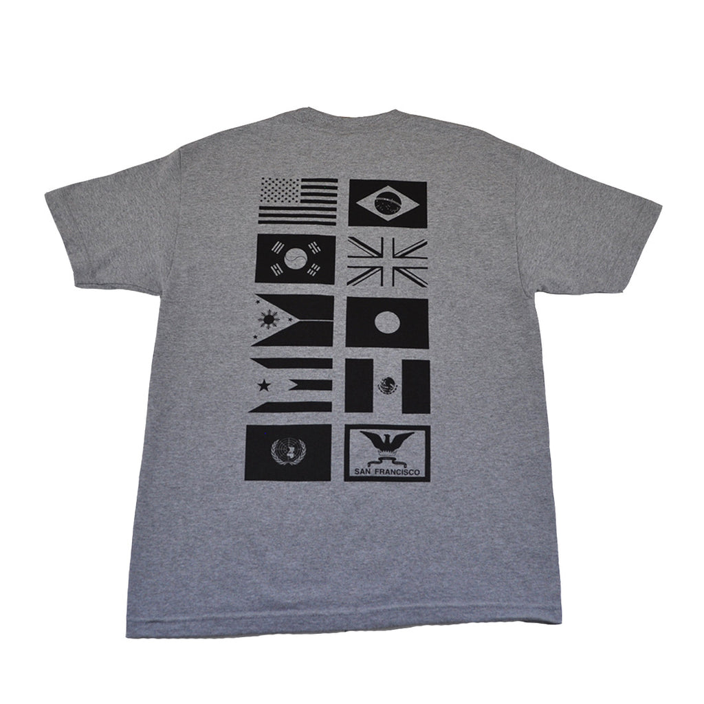 Mens True Nations Pocket T-Shirt Heather Grey - Shop True Clothing