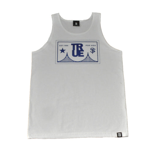 Mens True Por Vida Tank Top White - Shop True Clothing