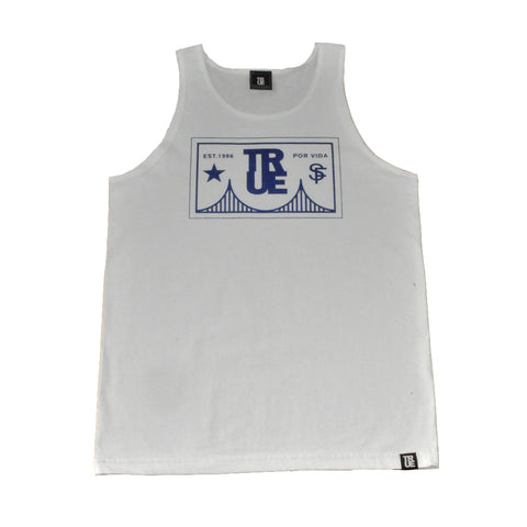 Mens True Por Vida Tank Top White