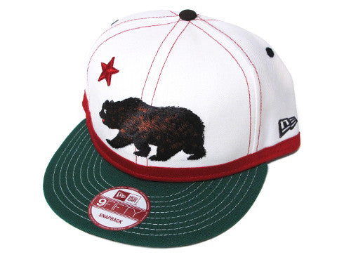 Cali True Bear New Era Snapback Cap White - Shop True Clothing